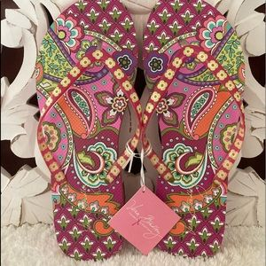 NWT Vera Bradley Flip Flops 🌸🌺🌸